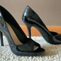 Bcbg Izzie Black Patent Peep Toe Pump High Heel Size 7 Photo
