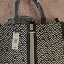 Bcbg Karla Signature Satchel Crossbody Handbag Purse Black Photo