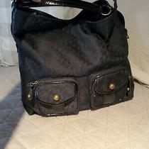 Bcbg Large Signature Black Hobo Bag Pockets Inside & Out Clean Inside Nice Photo