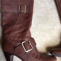 Bcbg Leather Brown Boots Photo