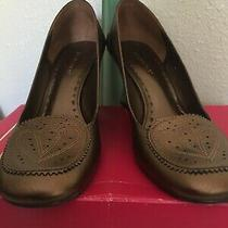 Bcbg Leather Shoes New in Box Bronze Cocktail Floor Model  9 M Photo