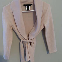 Bcbg Light Pink/corozo Cardigan Sweater Top Xs Excellent Condition Photo
