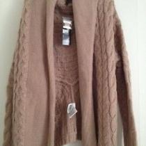 Bcbg Long Cable Sweater Xs Warm Taupe  Photo