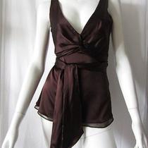 Bcbg Mahogany Silk Top Wrap Ties Xs Nwt Photo