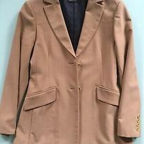 Bcbg Max Azria 2 Button Camel Coat Jacket Beige Blazer Women Size 2  Ec Photo