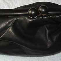 Bcbg Max Azria Antique Black/gold Tone Clutch Photo