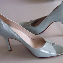 Bcbg Max Azria Aqua Patent Leather Heels W/open Toe Sz 8 Photo