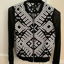 Bcbg Max Azria Black and White Print Jacket - Size Xs Photo