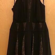 Bcbg Max Azria Black-Lace Women's Size 8 Skater Sheath Dress 298.  Nwt Photo