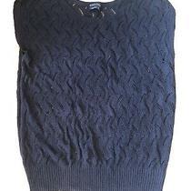 Bcbg Max Azria Black Sleeveless Sweater Size L Photo