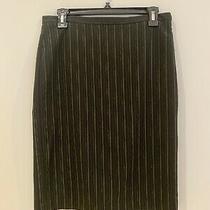 Bcbg Max Azria Black Striped Lace Back Pencil Skirt Sz 4 Photo
