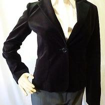 Bcbg Max Azria Black Velvet Jacket Size Xs Photo