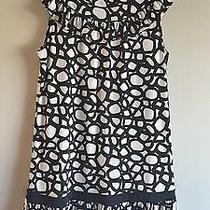 Bcbg Max Azria Black & White Medium Dress Polyester Nwot Photo