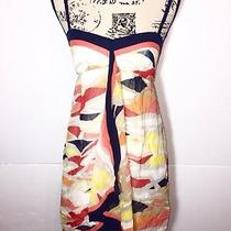 Bcbg Max Azria Camouflage Fit & Flare Silk Dress Womens Size 0 Overlaped Zip Up  Photo