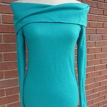 Bcbg Max Azria Cashmere Turquoise Sweater  S Can Fit Xs  Msrp 299 Photo