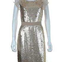 Bcbg Max Azria Chara Sequined Dress / Blush Pink / Rrp 370.00 Photo