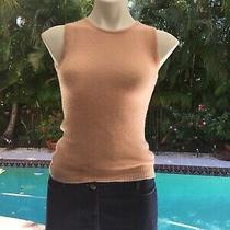 Bcbg Max Azria Collection Blush Cashmere Sleeveless Sweater Top Sz Small Photo
