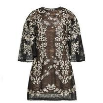 Bcbg Max Azria Evangeline Lace Tulle Embroidered Floral Dress Size Xs Nwt Photo