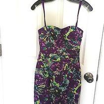 Bcbg Max Azria Floral Short Formal or Homecoming Dress Size 2 Photo