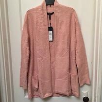 Bcbg Max Azria Ginata Open Front Sweater Cardigan Soft Petal New Size M 298.00 Photo
