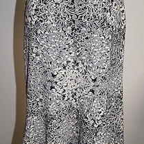 Bcbg Max Azria Gray/black Flute Bottom Skirt Size M Gorgeous Bin 910 Photo