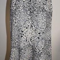 Bcbg Max Azria Gray/black Flute Bottom Skirt Size M Gorgeous Bin 910 Photo