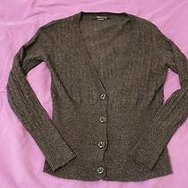 Bcbg Max Azria Grey/gray Button Down Sweater/cardigan Cutetrendysheek Like New Photo