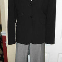 Bcbg  Max Azria Jacket & Ann Taylor Gray Pant Suit Sz L Photo
