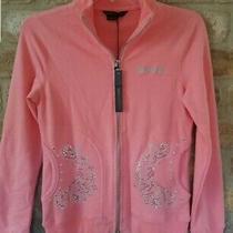 Bcbg Max Azria Jacket Light Active Top Yoga Running Sweater Sz S New Embellished Photo