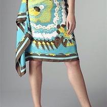 Bcbg Max Azria Luxurious Silk Scarf Skirt Photo