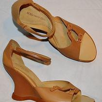 Bcbg Max Azria New Sz 8 B 38.5 Eu Beige Ankle Strap Wedge Heel Sandals Photo