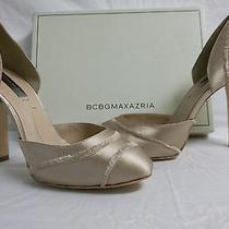 Bcbg Max Azria Size 7 M Amaris Blush Satin Pumps New Womens Shoes Photo