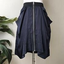 Bcbg Max Azria Skirt Navy Blue Size 0 Euc Photo