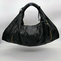 Bcbg Max Azria Soft Leather Purse Hobo Shoulder Bag Gold Tone Zippers Photo