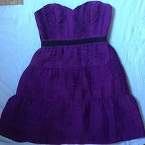 Bcbg Max Azria Strapless Grape Purple Dress Formal Cocktail Short Sexy Size 4 Photo