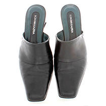Bcbg/max Azria Sz 5 1/2 M Soft Black Leather 2 3/8