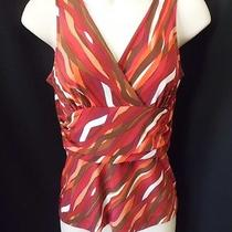 Bcbg Max Azria Tank Top Shirt S Wavy Stripes Photo