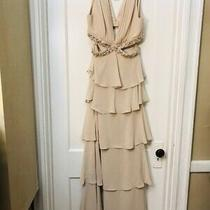 Bcbg Max Azria Tiered Embellished Cut Out Long Dress Gown Nwt Size 10 448.00 Photo