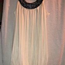 Bcbg Max Azria White Womens Size 2 Sleeveless Scoop Neck Pleated Dress Photo