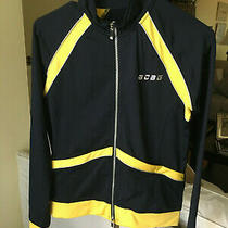 Bcbg Max Azria Women's Black W/ Yellow Full Zip Jacket Size Medium Photo