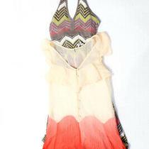 Bcbg Max Azria  Womens Halter Dress Coral Tan Knit Size Extra Small Lot 2 Photo