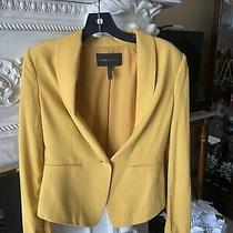 Bcbg Max Azria  Womens One Button Cropped Blazer Black Size Small Photo