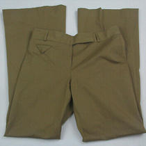 Bcbg Max Azria Womens Pants Size 10 Brown Trouser Wheat Wide Leg Photo