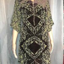 Bcbg Max Azria Womens Size Small Regular Top Green Short Sleeve Lined Photo