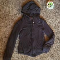 Bcbg Max Azria Womens Size Xsmall Xs Black Zip Hooded Jacket Coat Cotton Blend Photo