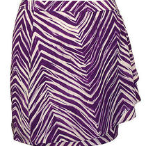 Bcbg Max Azria Womens Skirt Rashida Chiffon Zebra Print Mini Purple 10 New 148 Photo