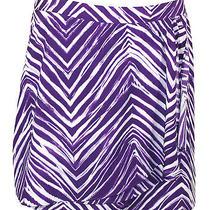 Bcbg Max Azria Womens Skirt Rashida Chiffon Zebra Print Mini Purple 10 New 148 Photo