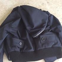 Bcbg  Max Mara  Bomber  Jacket  With Zipper Hood Photo