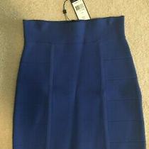 Bcbg Maxazaria Bandage Pencil Skirt Mini Stretch Bodycon Size M Royal Blue Photo