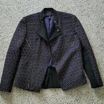 Bcbg Maxazaria Navy and Black Jacket Size 4 Photo